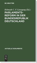 Parlamentsreform in der Bundesrepublik Deutschland