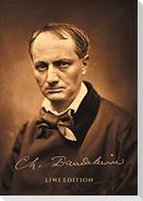 """Notizbuch für Autorinnen und Autoren - schön gestaltet mit Leseband - A5 Hardcover liniert - """"Charles Baudelaire"""" - 100 Seiten 90g/m² - FSC Papier"""