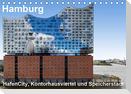 Hamburg. HafenCity, Kontorhausviertel und Speicherstadt. (Tischkalender 2021 DIN A5 quer)