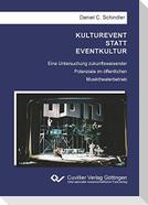 KULTUREVENT STATT EVENTKULTUR
