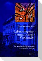 Lebenszeugnisse österreichischer Vizekanzler im soziopolitischen Kontext