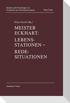 Meister Eckhart: Lebensstationen, Redesituationen