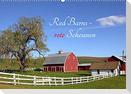Red Barns - rote Scheunen (Wandkalender 2022 DIN A2 quer)