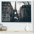 Paris - in schwarz und weiss (Premium, hochwertiger DIN A2 Wandkalender 2022, Kunstdruck in Hochglanz)