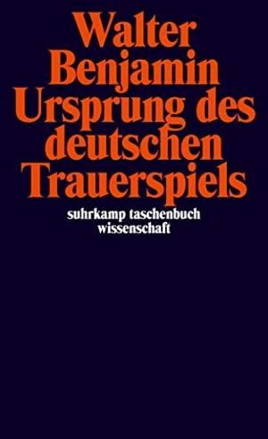 Walter Benjamin / Rolf Tiedemann. Ursprung des deutschen Trauerspiels. Suhrkamp, 2000.