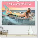 Meerjungfrauen - Fantasieschönheiten (Premium, hochwertiger DIN A2 Wandkalender 2022, Kunstdruck in Hochglanz)