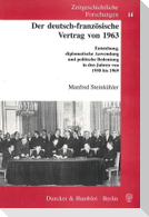 Der deutsch-französische Vertrag von 1963