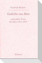 Gedichte von Rom und andere Texte der Jahre 1817-1818