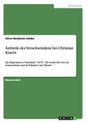 Ästhetik des Verschwindens bei Christian Kracht