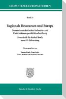 Regionale Ressourcen und Europa