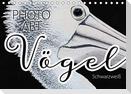 Vögel Schwarzweiß Photo Art (Tischkalender 2021 DIN A5 quer)