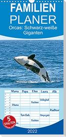 Orcas: Schwarz-weiße Giganten - Familienplaner hoch (Wandkalender 2022 , 21 cm x 45 cm, hoch)