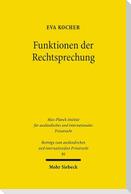 Funktionen der Rechtssprechung Konfliktlösung im deutschen und englischen Verbraucherrecht