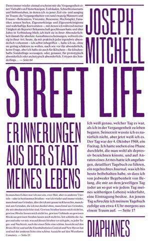 Mitchell, Joseph. Street Life - Erinnerungen aus d