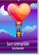 Zarte Liebesgefühle Spruchkalender (Wandkalender 2022 DIN A2 hoch)