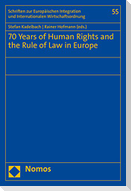70 Years of Human Rights and the Rule of Law in Europe