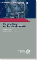 Die Entwicklung der deutschen Universität