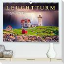 Leuchtturm Gewitter (Premium, hochwertiger DIN A2 Wandkalender 2022, Kunstdruck in Hochglanz)