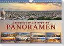 Europäische Metropolen - Panoramen (Wandkalender 2022 DIN A4 quer)