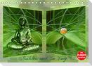 Buddha und Yin Yang (Tischkalender 2022 DIN A5 quer)