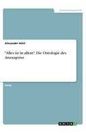 """""""Alles ist in allem"""". Die Ontologie des Anaxagoras"""