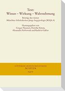 Text: Wissen - Wirkung - Wahrnehmung