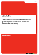 Zwangsverheiratung in Deutschland im Spannungsfeld von Politik, Recht und normativer Erwartung