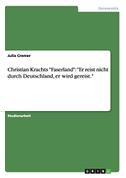 """Christian Krachts """"Faserland"""": """"Er reist nicht durch Deutschland, er wird gereist."""""""