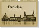 Dresden - Ein Kalender im Zeitungsstil (Wandkalender 2021 DIN A4 quer)
