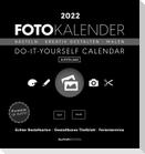 Foto-Bastelkalender schwarz 2022 - Do it yourself calendar 16x17 cm