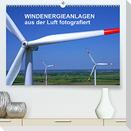 Windkraftanlagen aus der Luft fotografiert (Premium, hochwertiger DIN A2 Wandkalender 2022, Kunstdruck in Hochglanz)