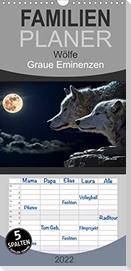 Wölfe. Graue Eminenzen - Familienplaner hoch (Wandkalender 2022 , 21 cm x 45 cm, hoch)