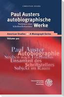 Paul Austers autobiographische Werke