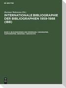 Bildungswesen und Erziehung / Geographie, Kartographie, Geodäsie / Geschichte