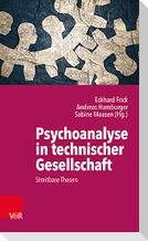 Psychoanalyse in technischer Gesellschaft