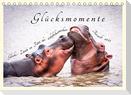 Glücksmomente Glücks-Zitate zu Fotos der großartigen südafrikanischen Tierwelt (Tischkalender 2022 DIN A5 quer)