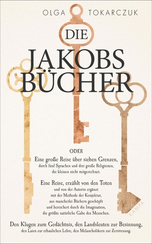 Olga Tokarczuk / Lisa Palmes / Lothar Quinkenstein. Die Jakobsbücher. Kampa Verlag, 2019.