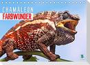 Farbwunder Chamäleon (Tischkalender 2022 DIN A5 quer)