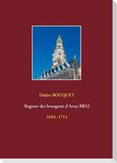Registre des bourgeois d'Arras BB52 - 1693-1711