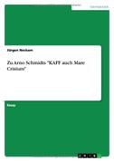 """Zu Arno Schmidts """"KAFF auch Mare Crisium"""""""