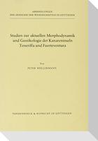 Studien zur aktuellen Morphodynamik und Geoökologie der Kanareninseln Teneriffa und Fuerteventura