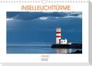 Inselleuchttürme Island (Wandkalender 2022 DIN A4 quer)