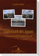 Grammatik des «Jopara»