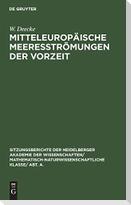Mitteleuropäische Meeresströmungen der Vorzeit