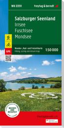 Salzburger Seenland - Irrsee - Fuschl - Mondsee, Wander + Radkarte 1:50.000