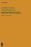 Christian Thomasius: Briefwechsel