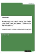 """Romananalysen: Joseph Roths """"Die Flucht ohne Ende"""" und Leo Perutz' """"Wohin rollst du, Äpfelchen..."""""""