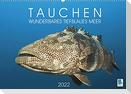 Tauchen: Wunderbares tiefblaues Meer (Wandkalender 2022 DIN A2 quer)