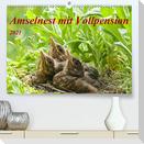 Amselnest mit Vollpension (Premium, hochwertiger DIN A2 Wandkalender 2021, Kunstdruck in Hochglanz)