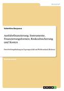 Ausfuhrfinanzierung. Instrumente, Finanzierungsformen, Risikoabsicherung und Kosten
